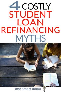 Have you been considering refinancing your student loan? Here are a few costly student loan refinance myths to know before. Best Student Loans, Student Loan Payment, Federal Student Loans, Paying Off Student Loans, Arduino, Best Payday Loans, Loan Money, Loan Company, Refinance Mortgage
