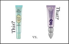 This or That: Would you choose the eyeshadow primer from Urban Decay or Too Faced? Tell us and vote!