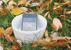 Amplify a phone by placing it in a bowl or cup! Great tip for picnics outside.