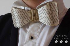 bow tie, bowtie, diy, do it yourself, doityourself, journal, livre, mariage, noeud pap, noeud papillon, papier, livre, pages, tuto, tutoriel, wedding, mariage, seconde vie, recyclage, recycler, original, originalité, accessoire