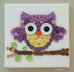 Buttoned Owl - so cute!