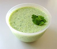 Raita is a condiment made with yogurt and popular in India, Pakistan and Bangladesh.