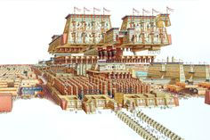 Exploded view of the Temple of Amun-Ra