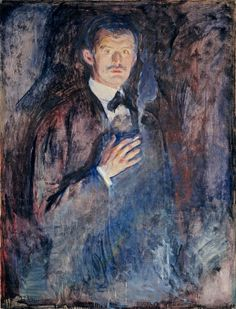"""Self-Portrait with Cigarette"" (1895) Edvard Munch [Norwegian, 1863–1944], Oil on canvas"