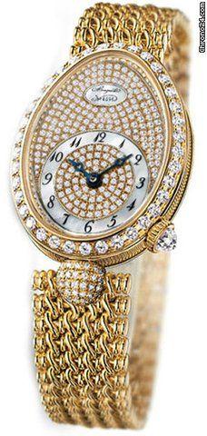 Breguet Reine de Naples Diamond Dial 18kt Yellow Gold Ladies Watch      ᘡղbᘠ