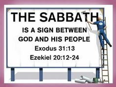 The Sabbath, a sign