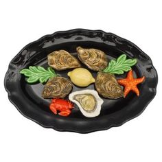 Check out this item at One Kings Lane! Majolica Oval Oysters Wall Platter