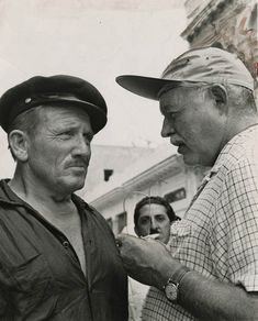 "1957 Vintage Cuba Hemingway and Spencer Tracy ""the Old Man and the Sea"""