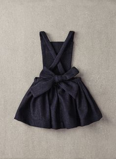 Nellystella Ella Dress in Navy Wool - N15F012 - PRE-ORDER
