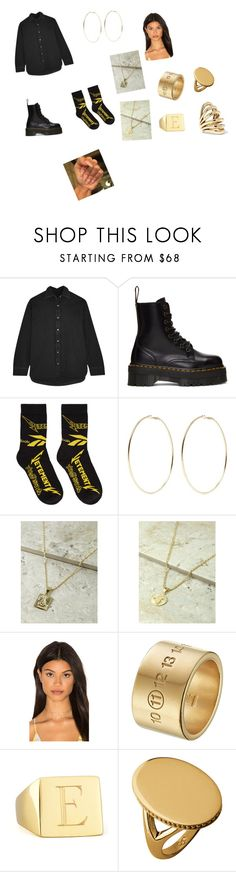 """""""Untitled #4914"""" by itsore ❤ liked on Polyvore featuring Balenciaga, Dr. Martens, Vetements, Kenneth Jay Lane, Haati Chai, Maison Margiela, Sarah Chloe, Links of London and Lisa Eisner"""