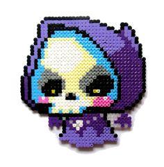 Items similar to Maplestory Jr. Reaper perler bead sprite on Etsy Hama Beads Design, Diy Perler Beads, Perler Bead Art, Pearler Beads, Fuse Beads, Pearler Bead Patterns, Seed Bead Patterns, Perler Patterns, Cross Stitch Patterns