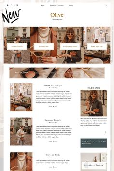 Olive - A Feminine WordPress Theme