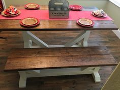 Farmhouse Furniture, End Tables, Entryway Tables, Dining Table, Home Decor, Mesas, Decoration Home, Room Decor, Dinner Table