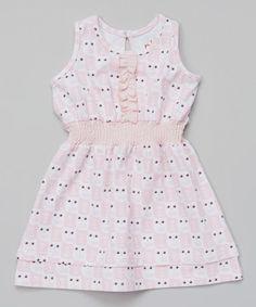 Blush Owl Ruffle Skater Dress - Infant, Toddler & Girls #zulily #zulilyfinds