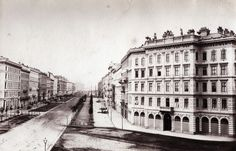 Ludwig Angerer - Ringstrasse, 1860 Vienna, Old Photos, Louvre, Street View, Building, Travel, Antique Photos, Voyage, Vintage Photos