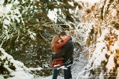 the moment it clicks photography   winter engagement