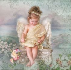 Diamond Painting Angel on a Pedestal Kit Angel Images, Angel Pictures, Beautiful Angels Pictures, Fotografia Vsco, I Believe In Angels, Psy Art, Baby Fairy, Angels Among Us, Angels In Heaven