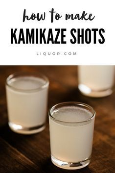 Cut the chase out of vodka shots. The Kamikaze is a vodka, orange liqueur and fresh lime shot cockta. Liquor Drinks, Vodka Drinks, Yummy Drinks, Alcoholic Drinks, Beverages, Yummy Shots, Tequila Sangria, Absolut Vodka, Cocktail Shots