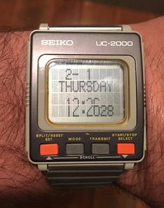 [SEIKO] Technology at its finest in Retro Watches, Vintage Watches, Cool Watches, Watches For Men, Steampunk Gadgets, Old Technology, Timex Watches, Old Computers, Beautiful Watches