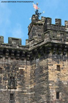 John of Gaunt statue on Lancaster Castle Gatehouse, Lancashire