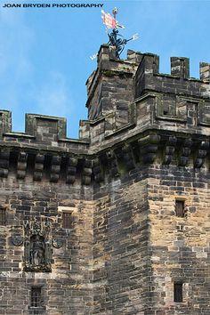 John of Gaunt statue on Lancaster Castle Gatehouse, Lancashire