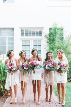 boho bridesmaids | April Maura Photography | Glamour & Grace