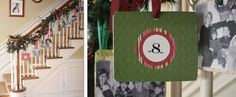 Christmas Card garland: Cute idea to display your family's Christmas card photos from years past.