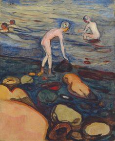 amare-habeo:  Edvard Munch (Norvegian, 1863-1945) Bathing (Badende), 1897-1899