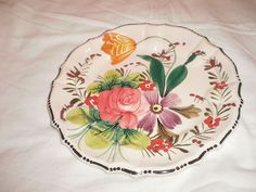 Pair of Vintage, Hand Painted Scalloped Edge Plates - Italy $11.99 - ebay