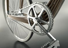 Wooden bicycle designed to explore architectural techniques
