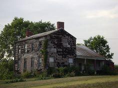 Abandoned 1830's farmhouse in Hageman, Ohio.