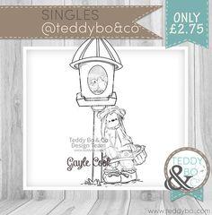 Teddy Bea_Birdhouse Bear DIGI STAMP Birdhouse
