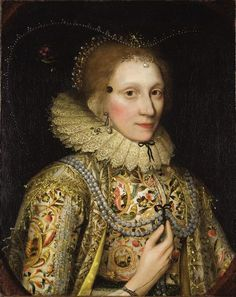 Circle of Robert Peake the elder (c.1551-1619) Portrait of a lady wearing a patch, Circa 1619-21, Oil on canvas, 76.2 x 50.8 cm Courtesy BADA 2017 Copyright Strachan Fine Art.