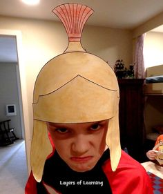 This activity has kids making printable Roman helmets, completing a coloring sheet, and memorizing a stanza of Horatius at the Bridge by Thomas Babbington. We'll start with the story.