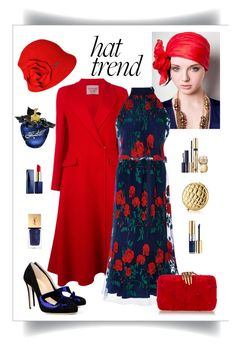 """Adam Selman Topiary Embroidered Halter & Skirt Look"" by romaboots-1 ❤ liked on Polyvore featuring Lanvin, Adam Selman, Betmar, Estée Lauder and Yves Saint Laurent"