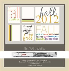 Freebie: Fall Printable 3x4 cards | Smitha Katti - smilingcolors.com