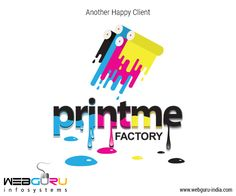WebGuru Infosystems is happy to #design this vibrant #logo for Printme Factory, in clear sync to its #brand essence.