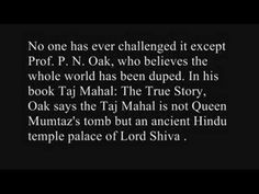 Taj Mahal used to be a Shivaji Temple? - The unsolved mystery of India