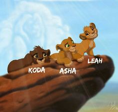 "Kiara and Kovu& cubs ""Young"" - Koda (son), Asha (daughter) and Leah (daught. Lion King Kovu, Kiara Lion King, Kiara And Kovu, Simba And Nala, Simba Disney, Disney Lion King, Disney And Dreamworks, Disney Art, Lion King Story"