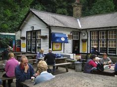 Grindleford station cafe - good for pints of tea and chip butties! Bakewell, Peak District, Pints, Cyclists, Derbyshire, British Isles, Teas, Britain, Restaurants