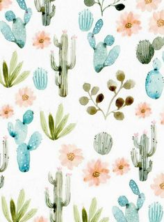 Patterns love. #patterns #cactus #floral #wallpaper