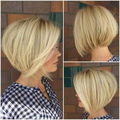 Graduated Bob Haircuts for Round Faces