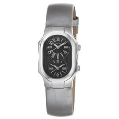 Women's Wrist Watches - Philip Stein Womens 1MBIPL Signature Platinum Silk on Leather Strap Watch ** Check out this great product. (This is an Amazon affiliate link)