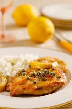 Light Chicken Piccata with Mushrooms and Capers // recipes // high protein recipe // healthy chicken recipe // lunch // dinner Beachbody // BeachbodyBlog.com