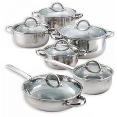 #ShoppingOnlineDeals #DanAnnStore #pots  and #StainlessSteel inless Steel #cookwaresets  Set Lids Induction Kitchen Cooking 18/10  #Cook