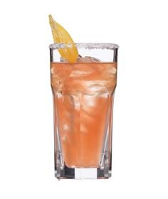 Rum and Grapefruit Spritzers - 2 cups fresh pink grapefruit juice, 1 cup ginger ale or ginger beer, 3/4 cup light rum, serve over ice