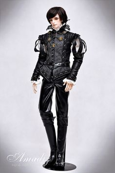 "One-off BJD outfit ""Black prince"" 