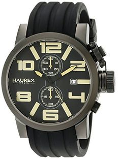 Haurex Italy Men's 6N506UTM TURBINA II Analog Display Quartz Black Watch Haurex http://www.amazon.com/dp/B00K24QGIY/ref=cm_sw_r_pi_dp_OFfXvb1DAYYMW