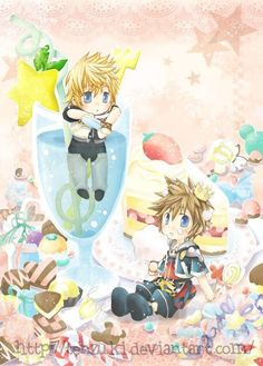 Kingdom Hearts Sora and Roxas