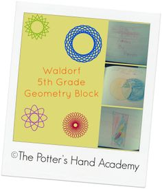 Making geometry beautiful and fun!! Waldorf 5th Grade Geometry Block with Waldorf Essentials! #homeschool #hsmom #geometry #math #Waldorf